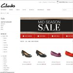 Clarks Shoes: Up to 50% off Sale + Get Additional $10 OFF on Sign up + FREE Shipping