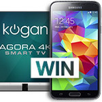 """Win a 55"""" 4K TV or a Galaxy S5 from Kogan"""