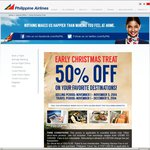 Melbourne to Manila with Philippines Airlines from now to December 5th for $594 return