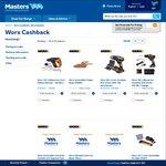 Worx Tools at Masters - Xmas Cashback $10- $50 + $20 off $100 Stack
