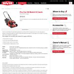 Rover Pro Cut 50 Mower $389 on Clearance @ Masters (RRP $799)