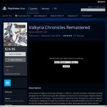 Valkyria Chronicles Remastered PS4 Digital Download AUD $24.95