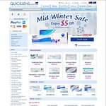 $5 off Contact Lenses, Free Shipping over $90 @ Quicklens