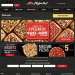 Large Pizzas $8.95 Pickup @ Pizza Hut