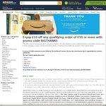 £10 off Any Qualifying Order of £50 @ Amazon UK