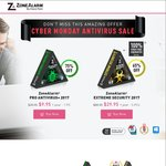 ZoneAlarm Pro Antivirus+Firewall 1year-1PC $9.90 (75% off) / Extreme Security 1year-5PC $29.95 (65% off)