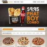 2x Phat Boy Pizza Wraps for $9.95 @ Pizza Capers
