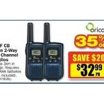 Oricom UHF Twin 2-Way Radios $32.99, 4x 400g Brake Cleaner $10 & More @ Repco