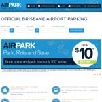 Weekend Special Airpark- from 8pm Thursday to 8pm Monday. from $29 @ Brisbane Airport Parking