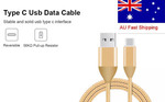 USB 3.1 Type C USB C to Male USB 1 meter braided cable with (56k pull up resistor) at $3.85 Free Shipping from Melbourne by LC