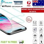 2x I-SLING Premium Tempered Glass Screen Protector for iPhone X 8 7 6 PLUS - $7.99 Delivered (RRP $19.99) @ ozsupplycentre eBay