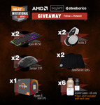 Win an AMD Ryzen™ 5 1600 or 1 of 8 SteelSeries Peripherals from Beat eSports/AMD/SteelSeries