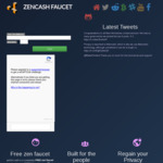 Free Crypto Zencash Coin Using Their Official Faucet Tap Once Every 20 Hours