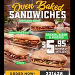 Chicken, Bacon & Avocado Oven Baked Sandwich $5.95ea @ Domino's