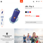 JBL Flip 3 Bluetooth Speaker for $89.95 + Delivery @ JBL