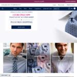 Charles Tyrwhitt 3 Shirts for $99 Delivered