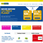 Telechoice Half Price Plans on Second Service ($20 for 18GB Data, $17.5 for 13GB Data, 12/24 Months Contract)