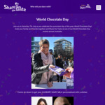 [NSW/VIC/QLD] Free Block of Cadbury Milk Chocolate (Sat 7/7) @ Centenary Square, State Library Victoria and King George Square