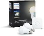 Philips Hue White Starter Kit $71.89 from Bunnings Warehouse