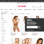 Womens Briefs (5 Designs) $1, Assorted Bralettes $2 (Free Click & Collect) @ Cotton On