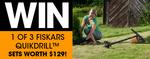 Win 1 of 3 Fiskars QuickDrill Sets Worth $129 from Nextmedia