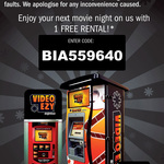 1 Free Rental @ Video Ezy Kiosk
