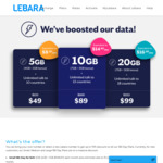 Lebara 180 Day Unlimited SIM Plans for New Customers: Increased Data Caps - 4GB Now 5GB ($49), 7GB Now 10GB ($89)