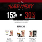 Black Friday Sale 15% off Store Wide or 30% off or When You Spend over $100 @ The Killer Coffee Co
