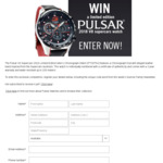 Win a Limited Edition Pulsar Men's Chronograph Watch Worth $350 from Seven Network