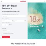 18% off Travel Insurance @ Medibank