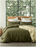 Sandy Cape Queen Quilt Cover Set in Olive $125 Delivered (Was $269) @ Myer