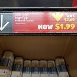 Cage Eggs 600g $1.99 (Was $2.69) @ ALDI