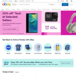 Buy One Get One 15% off Sitewide @ eBay (Min Spend $75, Max Discount $200)