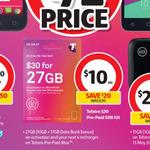 Telstra $30 Starter Kits - Now $10 @ Coles