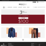 2 Shirts for $100 Free Delivery @ Brooksfield Australia