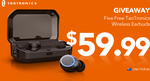 Win One of Five TaoTronics Wireless Earbuds from TaoTronics