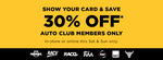 30% off Retail Price (Online & in Store) @ Repco (Auto Club Members)