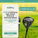 Win a Callaway Epic Flash Driver & Fairway Wood Worth $1,280 from Go Golfing