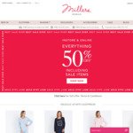 50% Off Sitewide (Some Exclusions Apply) @ Millers Clothing