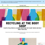 $5 Voucher When You Return 5 Empty The Body Shop Bottles, Tubs, Tubes, Jars or Pots for Recycling @ The Body Shop