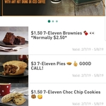 7-Eleven Fuel App Offers: Free Regular Coffee, $3 Pies, $1.50 Cookies, Brownies, $4 Bagel, $2 Red Bull, Up & Go, Bundaberg, Coke