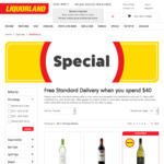 Free Standard Delivery for Orders over $40 at Liquorland