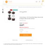 Cole & Mason Premium Beech Wood Salt & Pepper Mills Grinder Gift Set $34.95 (Was $54.95) + Free Delivery @ Mega Boutique