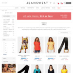 All Sale Items $20 or Less (Instore/Online and Click Collect Available) @ Jeanswest