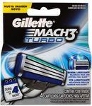 Gillette Mach3 Turbo Blades 4 Pack $9.99 + Shipping / Pickup @ Shaver Shop