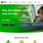 20% off Next 10 Rides (Max $8/Ride) @ Ola
