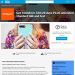 amaysim 100GB for $30/28 Days for First 300 Student Edge Members