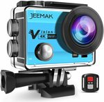 Jeemak 4K 16MP Wi-Fi Action Camera 30M Waterproof Remote Control Accessories Kit $49.99 Delivered (50% off) @ Amazon AU
