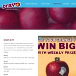 Win 1 of 12 $100 VISA Gift Cards +/-  $750 Cash & Two iPads from Bravo Apples