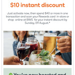 $10 off $40 or More Spend @ BWS